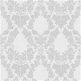 Vliesové tapety na stenu Mixing ornamenty sivé na bielom podklade