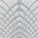 Vliesové tapety na stenu IMPOL Modernista Art Deco strieborná na sivom podklade