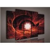 Obraz na plátne hviezdne nebo červené 150 x 100 cm