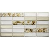 Obkladové 3D PVC panely rozmer 955 x 480 mm obklad biely s mušľami