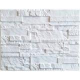 Obkladové 3D PVC panely rozmer 440 x 580 mm ukladaný kameň biely