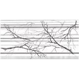 Obkladové 3D PVC panely rozmer 957 x 480 mm, hrúbka 0,4mm, vetve a pruhy sivo-biele s trblietkami