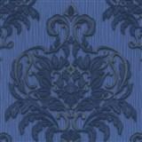 Vliesové tapety na stenu Spotlight - zámocký vzor modro-strieborný