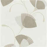 Vliesové tapety na stenu Spotlight - listy svetlo hnedé