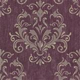 Luxusné vliesové tapety na stenu Spotlight 2 zámocký vzor tmavo ružový