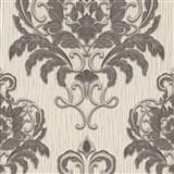 Vliesové tapety na stenu IMPOL Spotlight 3 zámocký vzor sivo-strieborný