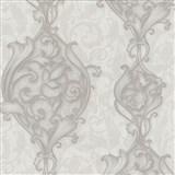 Vliesové tapety na stenu Studio Line - Opulent zámocké ornamenty svetlo hnedé s leskom