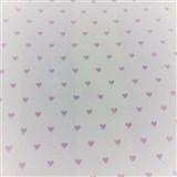 Vliesové tapety na stenu Sweet & Cool ružové srdiečka na bielom podklade