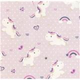 Vliesové tapety na stenu Sweet & Cool Unicorn-jednorožec na ružovom podklade