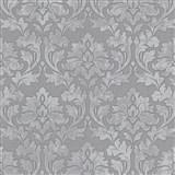 Vliesové tapety IMPOL Timeless ornamenty sivé so striebornými trblietkami na sivom podklade