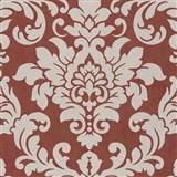 Vliesové tapety na stenu Trendwall barokný vzor zlatý na terakotovom podklade