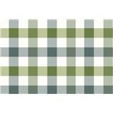 Obrus návin 20 m x 140 cm kocky zeleno-sivé