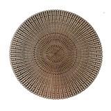 Vinylové dekoratívne prestieranie na stôl Ambiente ružovo zlaté 38 cm
