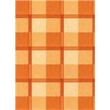 Obrusy návin 20 m x 140 cm štvorčeky oranžové