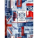 Obrusy návin 20 m x 140 cm London modrý