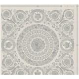 Luxusné vliesové  tapety na stenu Versace IV barokové ornamenty sivo-strieborné
