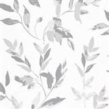 Vliesové tapety na stenu IMPOL Wall We Love 2 listy sivo-strieborné s metalickým odleskom