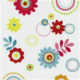 Papierové tapety na stenu X-treme Colors - kvety červené