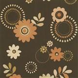 Papierové tapety na stenu X-treme Colors - kvety oranžovo-okrovej