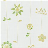 Papierové tapety na stenu X-treme Colors - kvetinky zeleno-hnedé