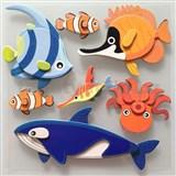 3D samolepky na stenu detské rybičky