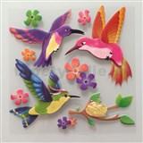 3D samolepky na stenu detské vtáčiky