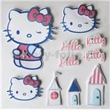 3D samolepky na stenu detské Hello Kitty