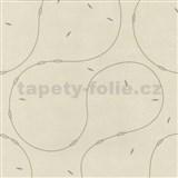 Vliesové tapety na stenu 4ever - moderný vzor hnedý na svetlo hnedom podklade