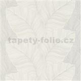 Vliesové tapety na stenu Bali listy sivo-hnedé
