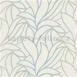 Vliesové tapety na stenu Bali listy zelené na bielom podklade