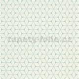 Vliesové tapety na stenu Bali moderný plastický vzor mint