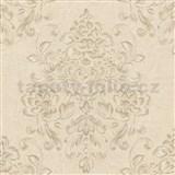 Tapety na stenu Baroque - kvetinový vzor hnedý