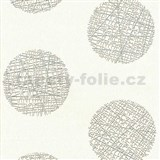 Vliesové tapety Belcanto - kruhy svetlo hnedé