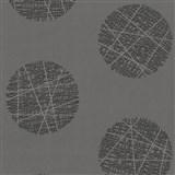 Vliesové tapety Belcanto - kruhy sivé