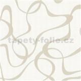 Vliesové tapety Belcanto - abstraktné vzor svetlo hnedý na bielom podklade