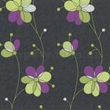 Vliesové tapety Belcanto - kvety fialovo zelené