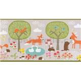 Papierové bordúry na stenu Sweet & Cool zvieratká v prírode