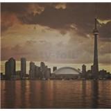 Luxusné vliesové fototapety Toronto - sépia, rozmer 279 x 270cm