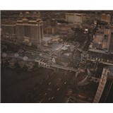 Luxusné vliesové fototapety Las Vegas - sépia, rozmer 325,5 x 270cm