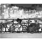 Luxusné vliesové fototapety Amsterdam - čiernobiele, rozmer 325,5 x 270cm