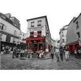Luxusné vliesové fototapety Paríž - čiernobiele, rozmer 372 x 270cm