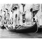 Luxusné vliesové fototapety Venice - čiernobiele, rozmer 325,5 x 270cm