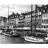 Luxusné vliesové fototapety Copenhagen - čiernobiele, rozmer 325,5 x 270cm