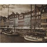 Luxusné vliesové fototapety Copenhagen - sépia, rozmer 325,5 x 270cm