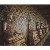 Luxusné vliesové fototapety Bangkok - sépia, rozmer 325,5 x 270cm