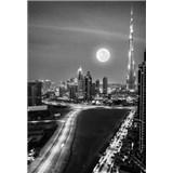 Luxusné vliesové fototapety Dubai - čiernobiele, rozmer 186 cm x 270cm