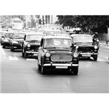 Luxusné vliesové fototapety Mumbai - čiernobiele, rozmer 372 x 270cm