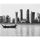 Luxusné vliesové fototapety Doha - čiernobiele, rozmer 325,5 cm x 270 cm