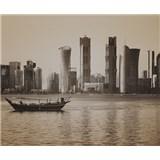 Luxusné vliesové fototapety Doha - sépia, rozmer 325,5 cm x 270 cm