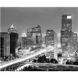Luxusné vliesové fototapety Beijing - čiernobiele, rozmer 325,5 x 270cm